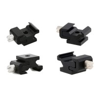 Metal Cold Shoe Flash Triod Adapter, 2 pcs