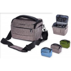 Elegant, practical and durable camera handbag for travel and work.